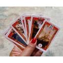 Baralho Tarot Cigana da Sorte vermelho 36 Cartas - com manual explicativo