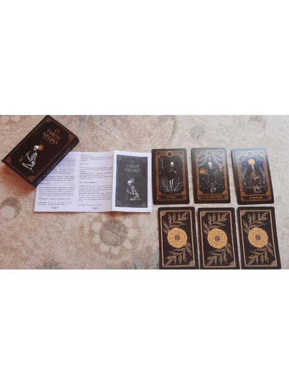 BARALHO O TARÔ NEGRO ORÁCULO DECK  22 CARTAS - The Black Tarot 22 carts oracle - com manual explicativo