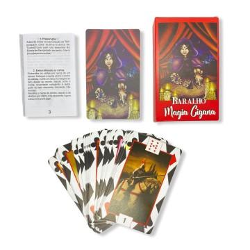 Baralho Tarot Magia Ciganas Vermelho  Deck 36 Cartas Oráculo com manual do usuário