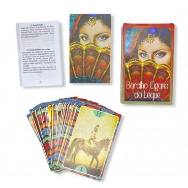 Baralho Tarot Cigana do Leque Vermelho 36 Cartas com manual