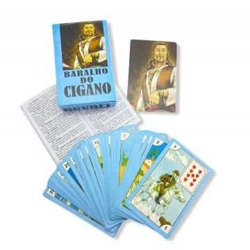 Baralho Tarot do Cigano Azul Cigano Vladimir 36 Cartas com manual
