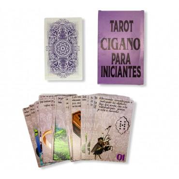 Baralho Tarot Cigano para Iniciante Lilás Oráculo 36 Cartas com deck auto-explicativo