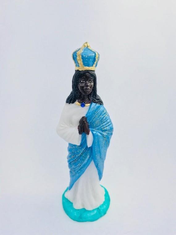Santa Sara 15 cm resina azul