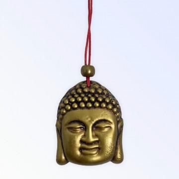 Buda dourado Feg Shui 45 mm para pendurar em resina