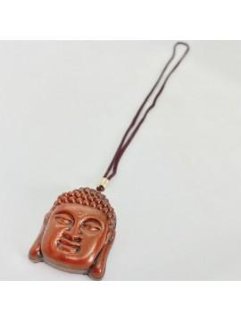 Colar Buda rosto resina 5cm