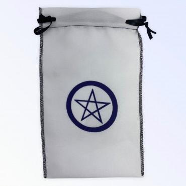 Estojo para cartas pentagrama branca 22 x 14 cm em tecido