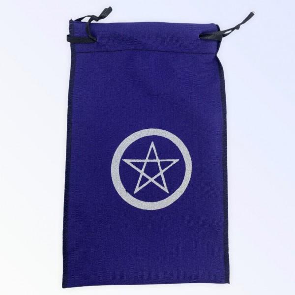 Estojo para cartas pentagrama roxo 22 x 14 cm em tecido
