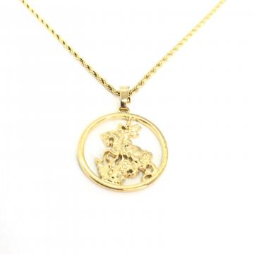 Corrente São Jorge 3cm dourado