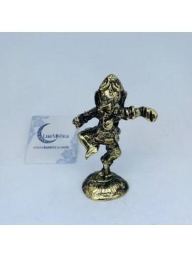 Ganesh dançarino metal 09 cm dourado